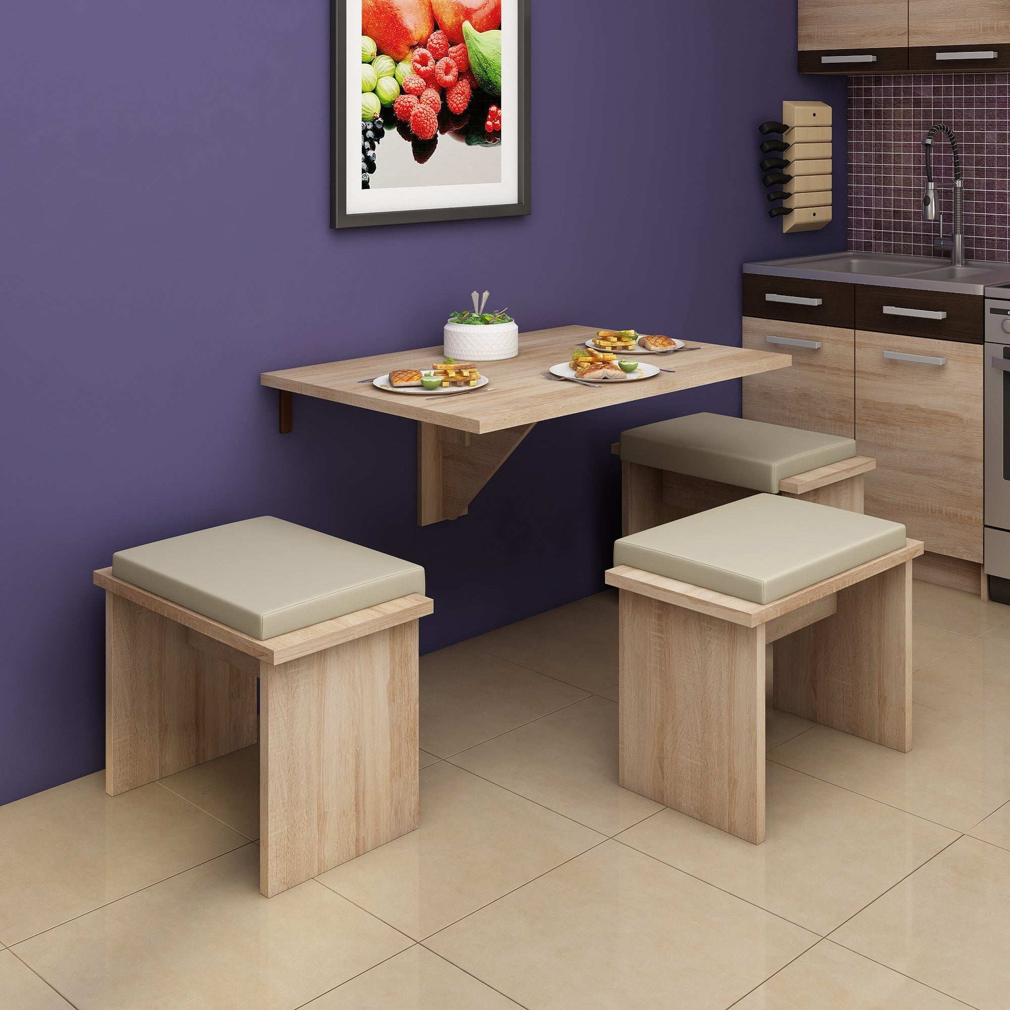 Expert D Wall-Mounted Drop Leaf Dining Table | Furniture Agency