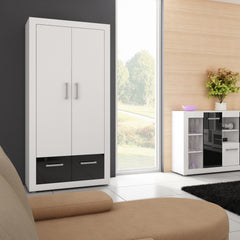 Viki 2 Doors 2 Drawers Armoire, Multiple Finishes - Furniture.Agency