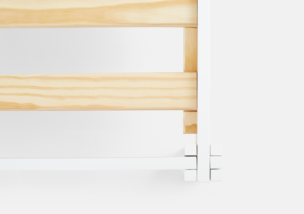 Helix white wood bed frame