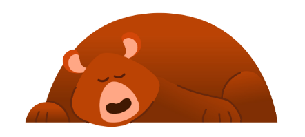 cartoon sleeping bear