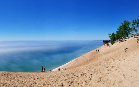 sleeping bear sand dunes michigan