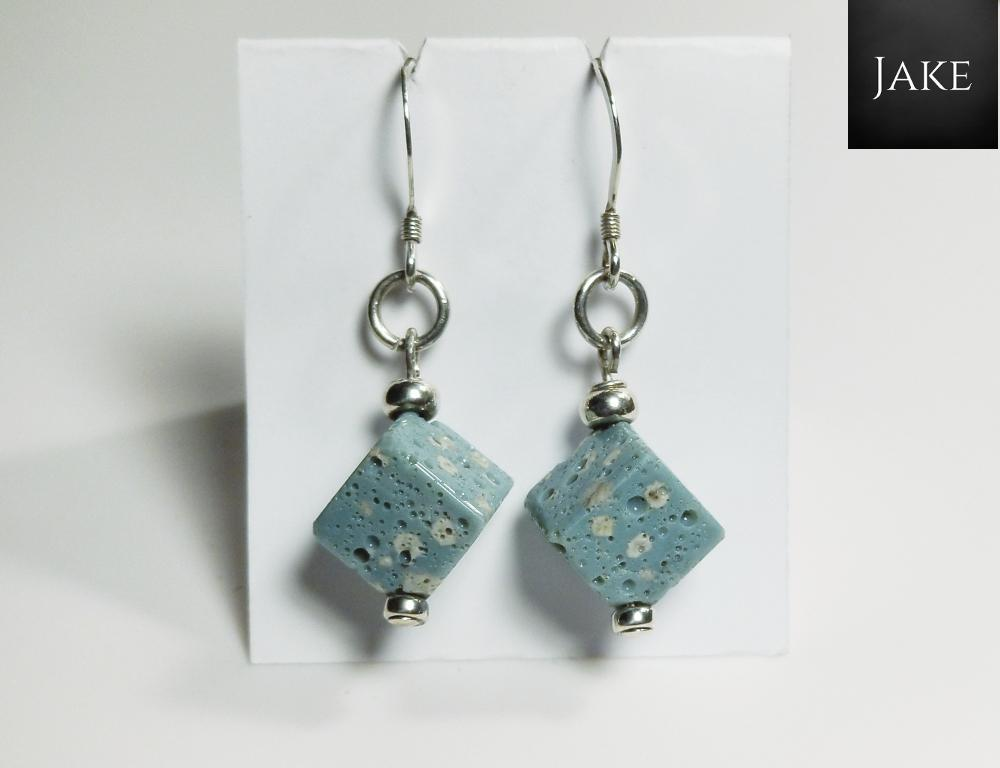 Leland Blue Cube Dangle Earrings