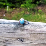 "Leland Blue Ring with Sterling Silver ""Flex"" Band"