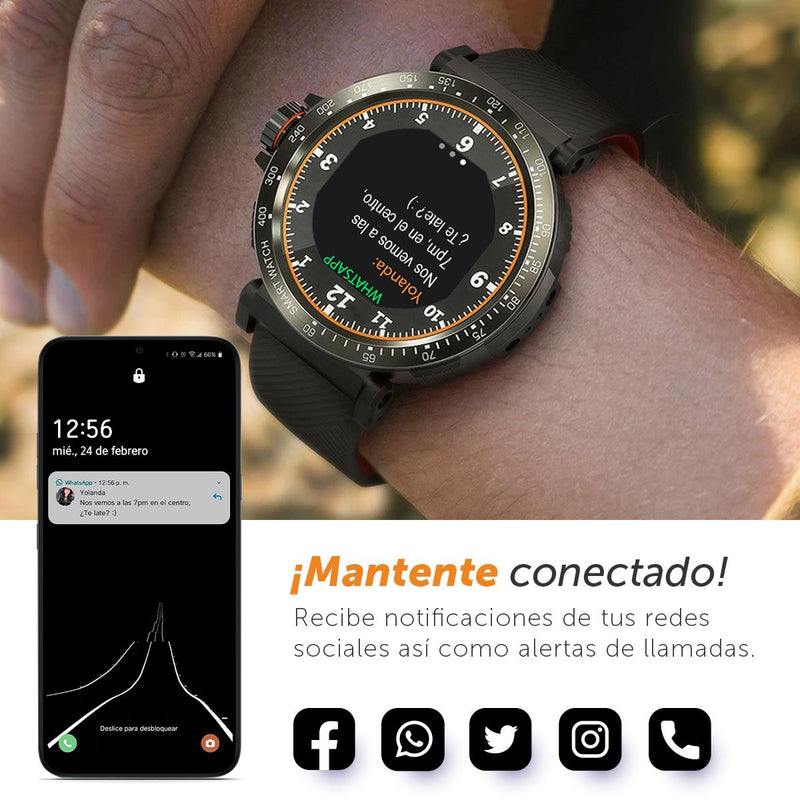 Smartwatch Deportivo Binden AT1, 8 Deportes, Notificaciones