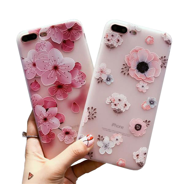 Flower Patterned Case For iPhone