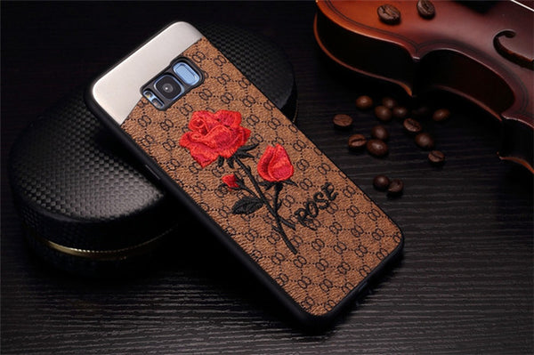Embroided rose case
