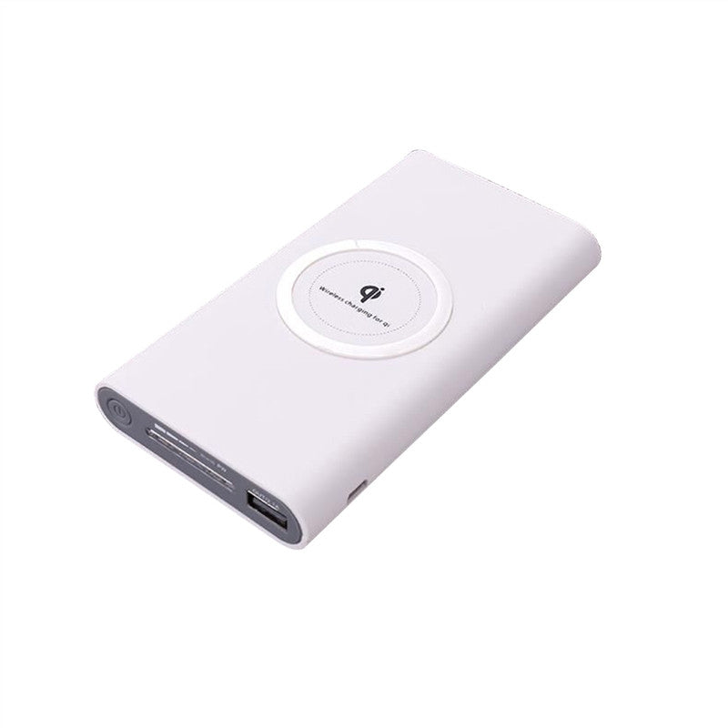 High Capacity 10000 mAh Power Bank Wireless Charger