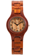 Tense Pacific G7509R Men's Round Bracelet Wooden Watch