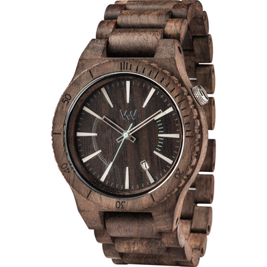 WeWood Assunt Choco Rough Wooden Watch