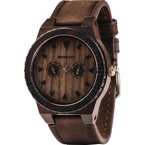 WeWood Leo Leather Chocolate Wooden Watch