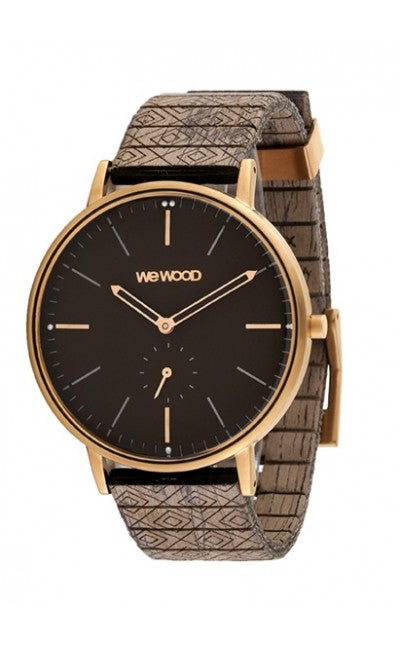 WeWood Albacore Rose Gold Black Chocolate Wooden Watch