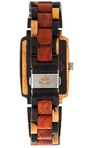Tense Timber J8102IDM Jumbo Rectangular Wooden Watch