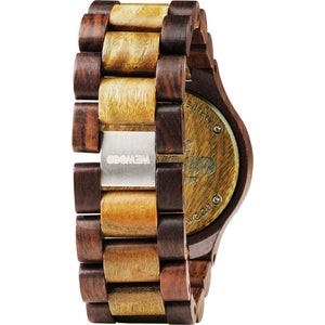 WeWood Date Choco-Army Wooden Watch