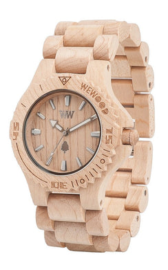 WeWood Date Beige Wooden Watch