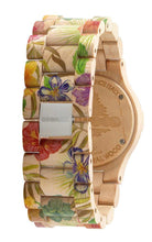 WeWood Date Flower Beige Wooden Watch