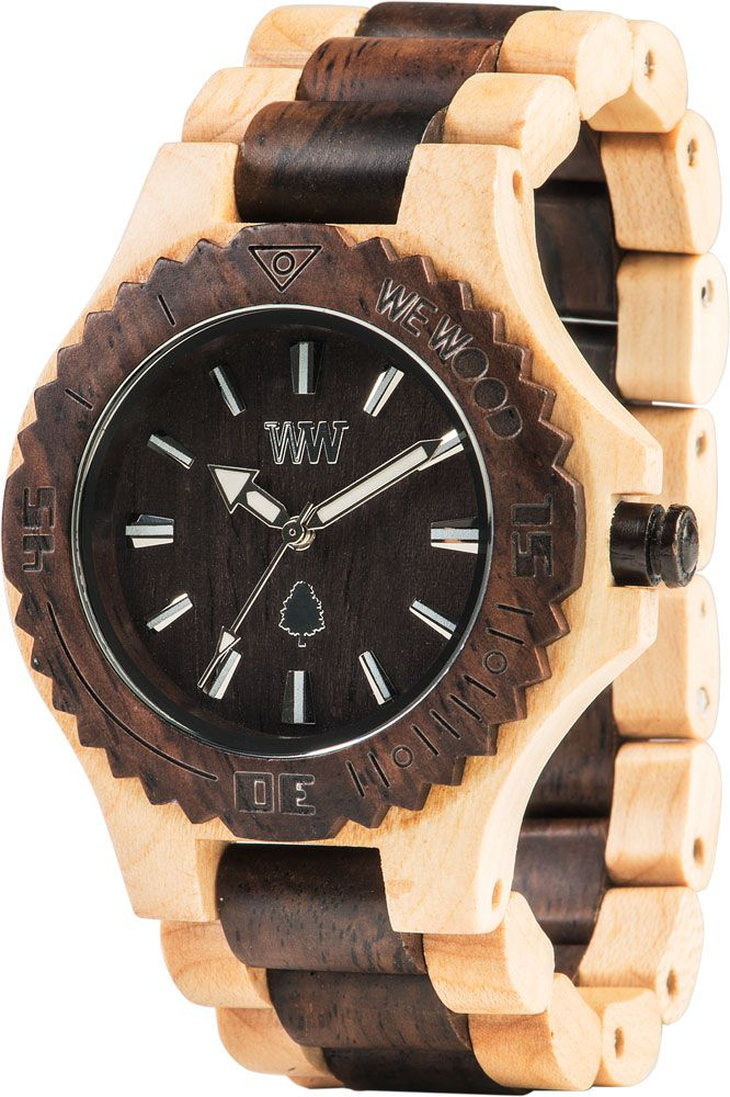 WeWood Date Beige-Choco Wooden Watch