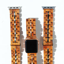 24mm - Pono Woodworks Koa Solid Wood iWatch, Gunmetal Band Stringer