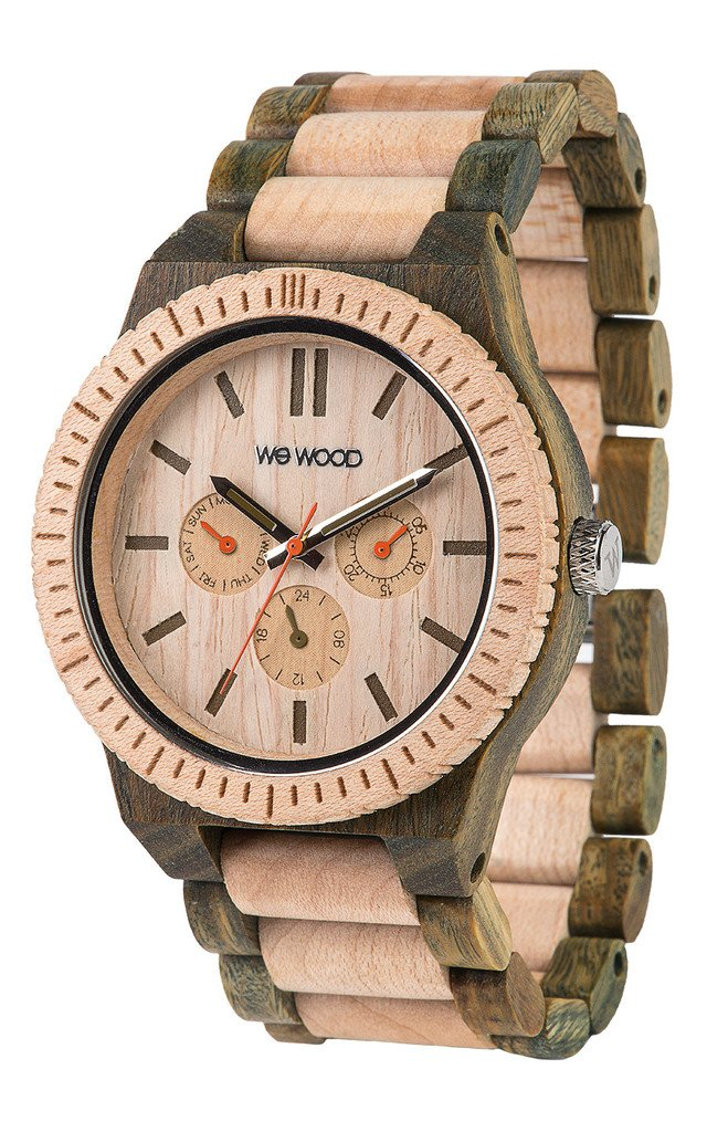 WeWood Kappa Army-Beige Wooden Watch