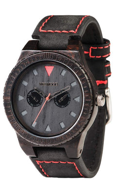 WeWood Leo Terra Black Wooden Watch