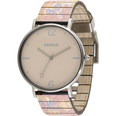 WeWood Aurora Bloom Beige Wooden Watch