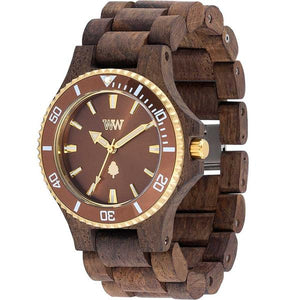 WeWood Date Choco Rough Wooden Watch