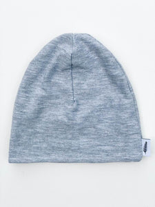 Organic Bamboo Cotton Beanie Hat (Heather Grey)