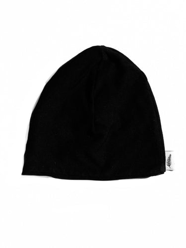 Organic Bamboo Cotton Beanie Hat (Black)
