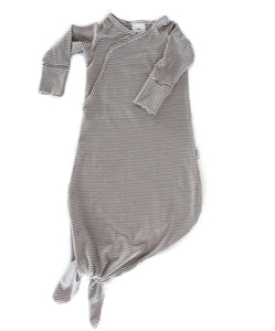 Infant Knot Gown (Olive stripe)