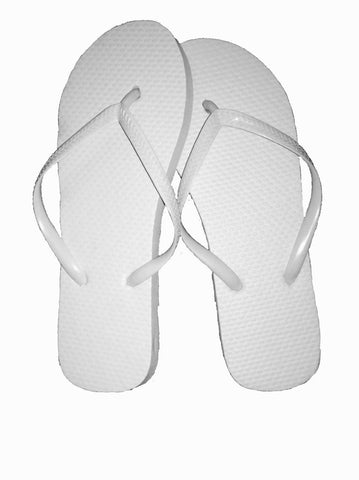 72 Pairs Womens Solid White Ladies Flip Flops