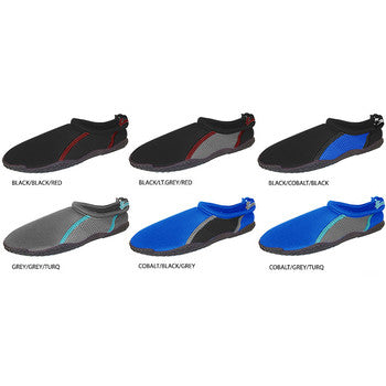 Wholesale Boy's Aqua Shoes with Drawstring (1 Case)