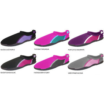 Wholesale Women's Aqua Shoes with Drawstring (1 Case)