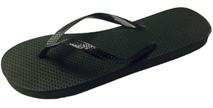 72 Pairs Solid Black Ladies Flip Flops