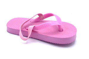 72 Pairs Toddler Pink Flip Flops with Back Strap