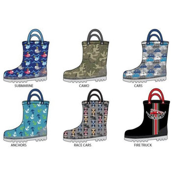 Wholesale Toddler Boy's Printed Rainboots (1 Case)