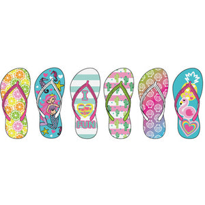 Wholesale Girl's Beach Print Flip Flops (1 Case)