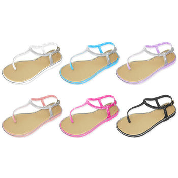 Wholesale Girl's Thong Sandal with Glitter (1 Case)