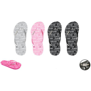 Wholesale Girl's Flip Flops with Pearlized Strap & Glitter Footbed (1 Case)