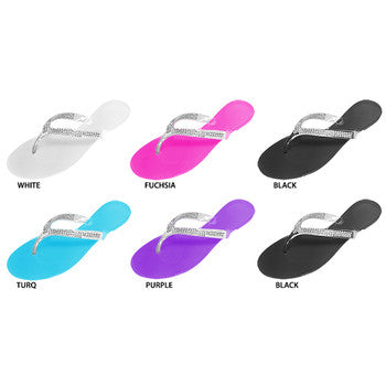 Wholesale Women's Jelly Sandals With Rhinestones (1 Case)