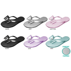 Wholesale Women's Thong Sandals with Bow & Rhinestones (1 Case)