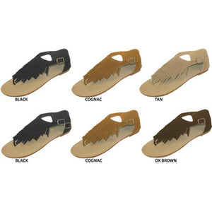 Wholesale Women's Fringed Thong Sandals (1 Case)