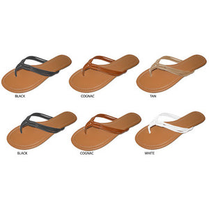 Wholesale Women's Woven Thong Sandals (1 Case)