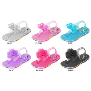 Wholesale Toddler Girl's Assorted Jelly Sandals (1 Case)