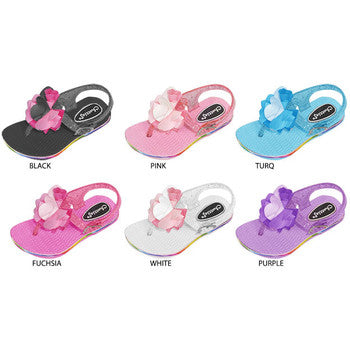 Wholesale Toddler Girl's Sandal with Flower (1 Case)