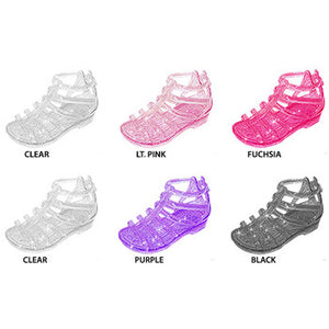 Wholesale Toddler Girl's Jelly Sandles With Glitter (1 Case)