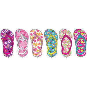 Wholesale Toddler Girl's Assorted Flip Flops (1 Case)
