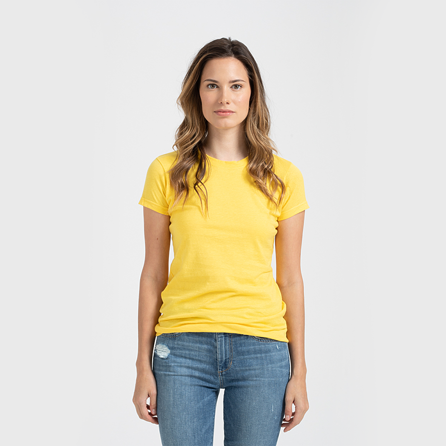 Custom Women's Shirt Yellow Venice Series