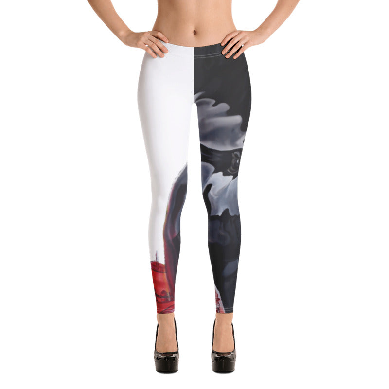 ANGELICA-RED-CITY-TRANSPARENCY LOW YOGA PANTS