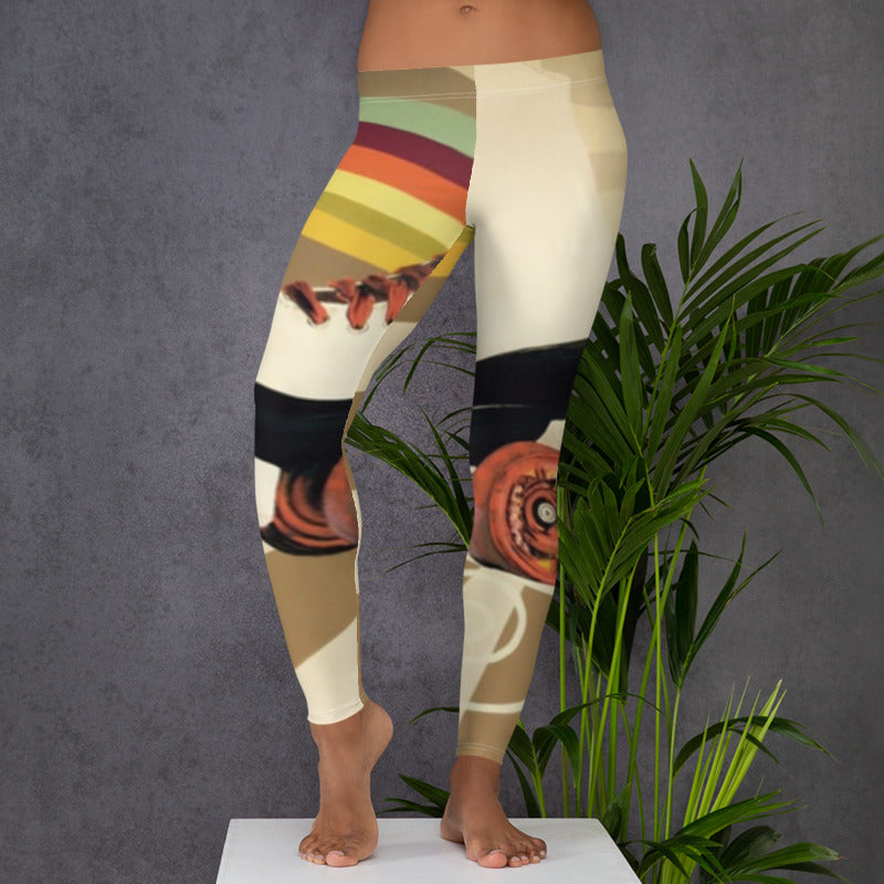 Rollerskate Low Rise Yoga Pants