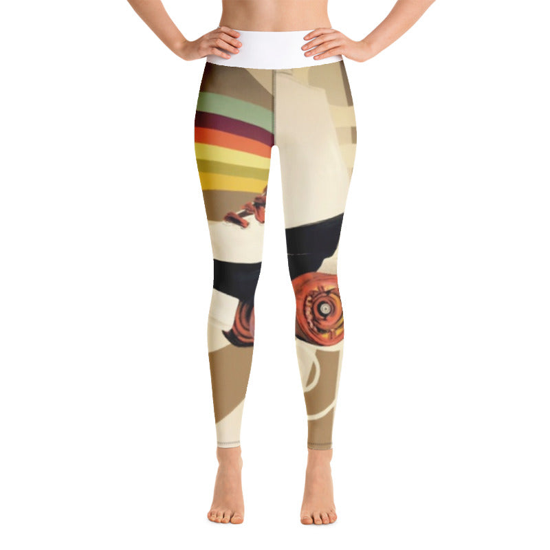 ROLLERSKATE HIGH RISE YOGA PANTS