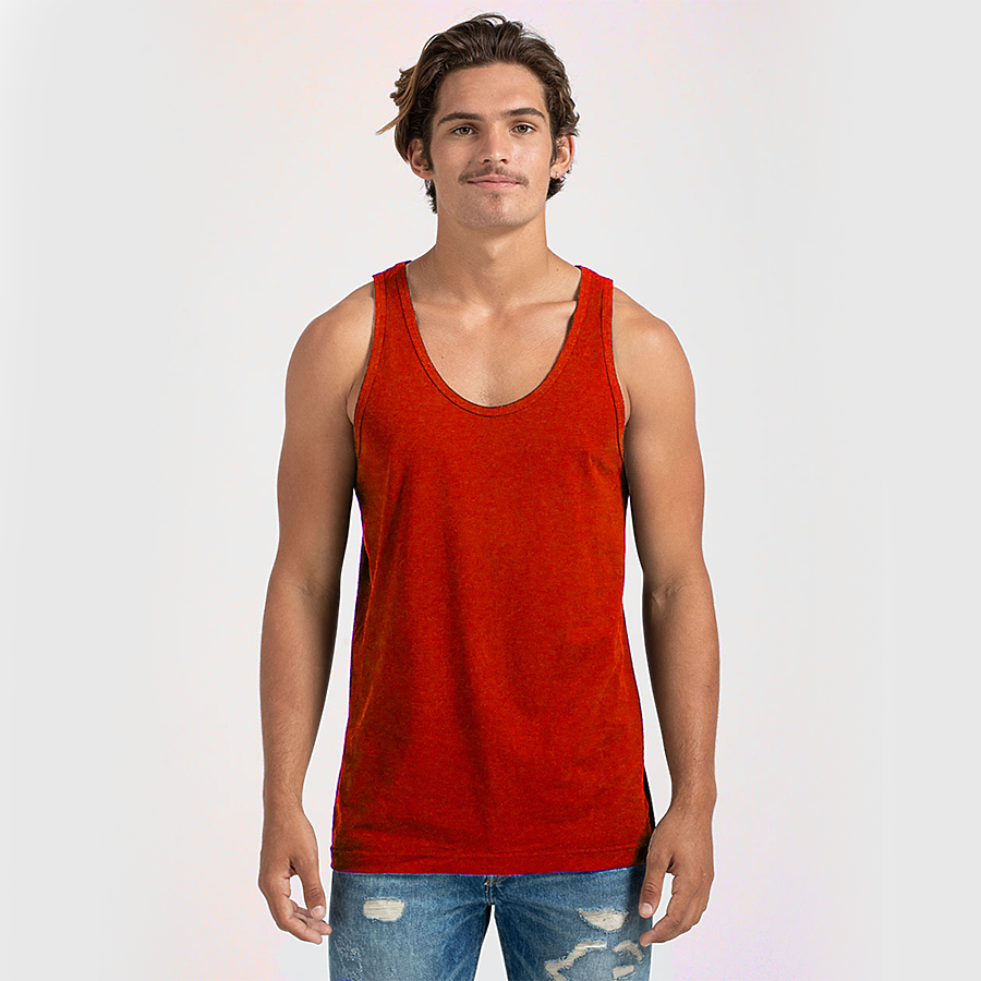 Custom Men's Tank Top Red Fish & Life Series